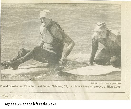 Constable David Sr Bluff Cove Paddle Out LA Times
