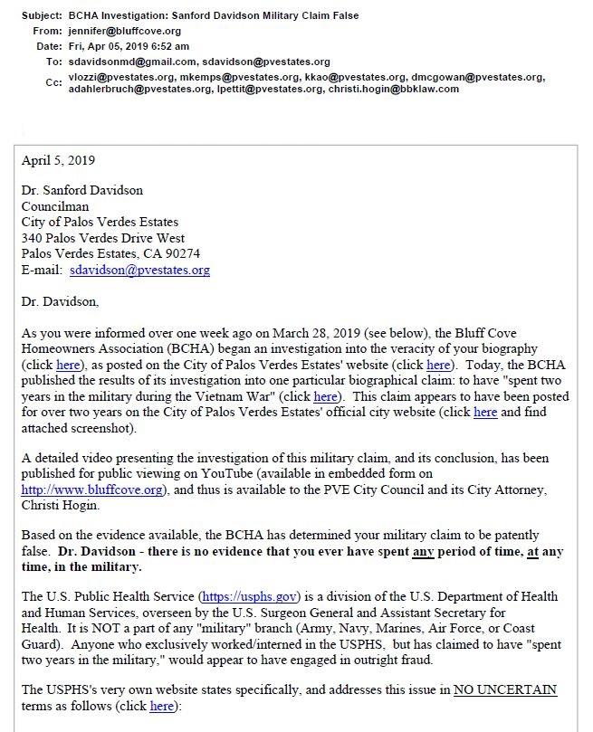 Davidson Sandy BCHA Ltr Page 1 04-05-2019