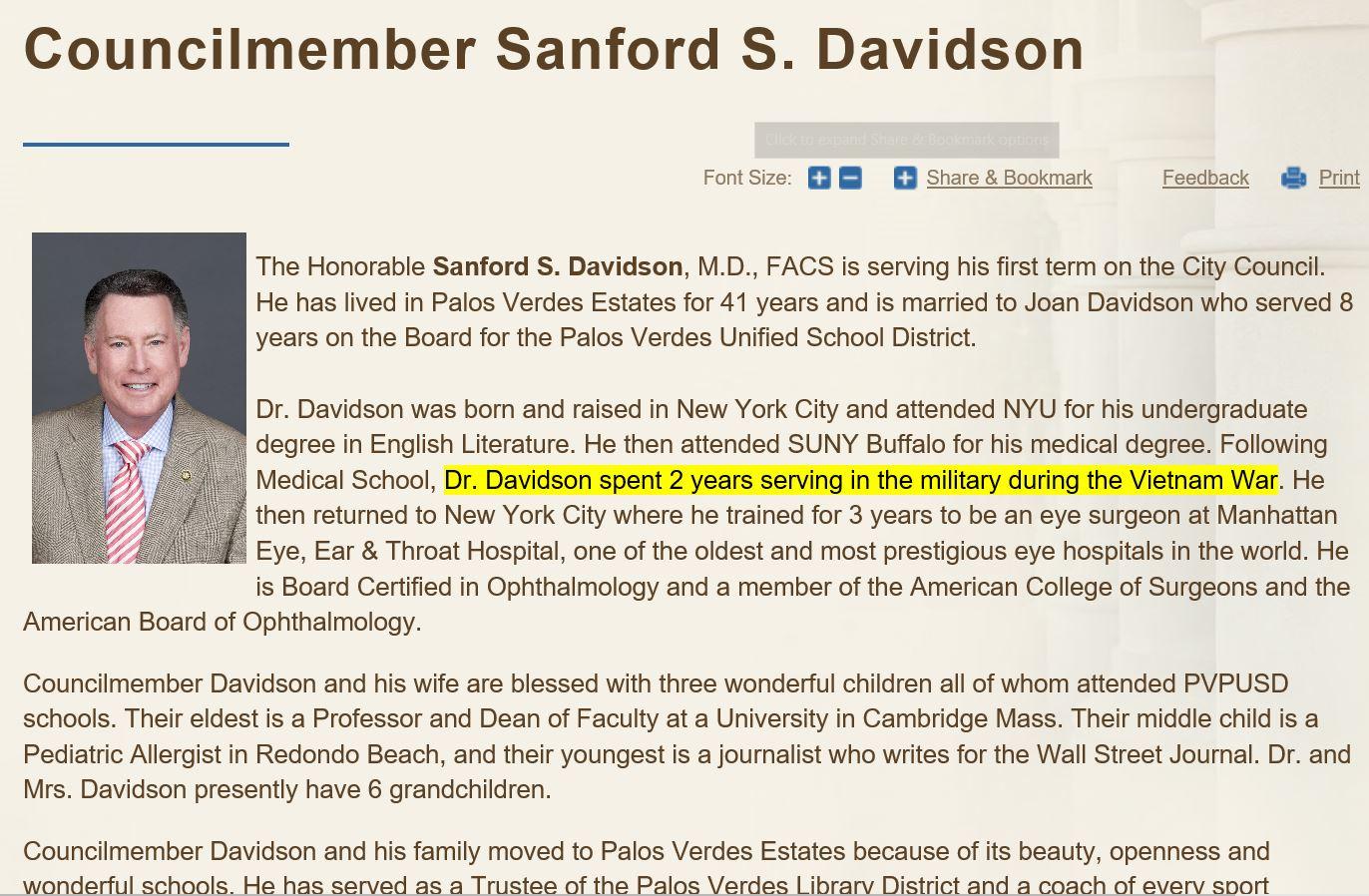 Davidson Sanford PVE Bio 05-08-2019