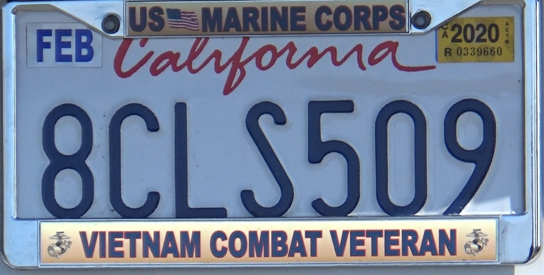 <b>The license plate frame of a TRUE Vietnam military veteran in PVE</b>